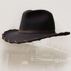 画像2: ベイリー ロウレザー&ウール カウボーイハット(ブラウン)/Bailey Cowboy Hat(Chocolate) (2)