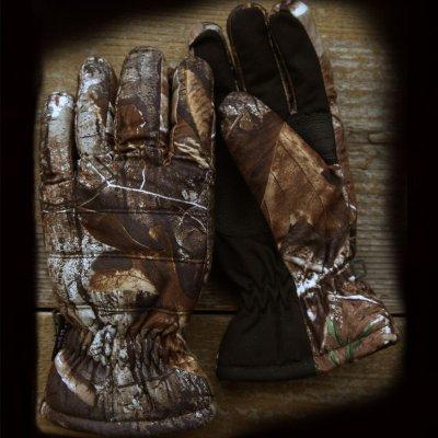 画像3: カモ シンサレート ウォータープルーフ アウトドアグローブ/Camo Hunting Gloves