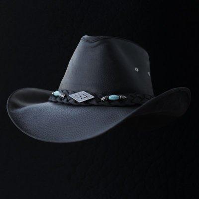 画像1: レザー ハット(ブラック)/Genuine Leather Hat(Black)