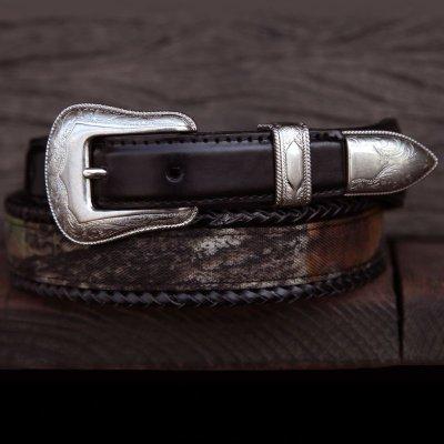 画像1: モッシー オーク カモ スリーピース ベルト(ブラック)/Belt