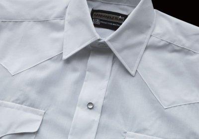 画像3: パンハンドルスリム ウエスタンシャツ(ブラック・無地/長袖)/Panhandle Slim Long Sleeve Western Shirt