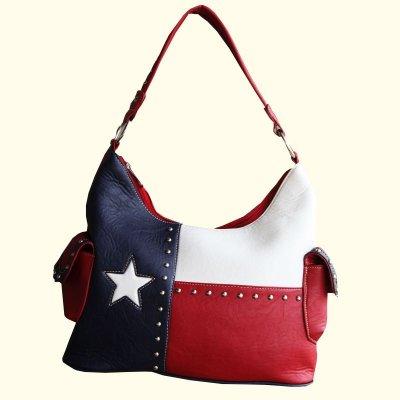 画像1: ローンスター カントリー ハンドバッグ/Bucket Texas Flag