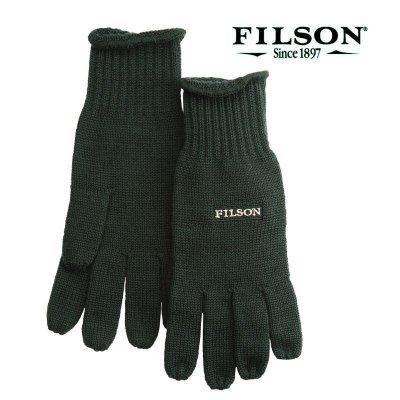画像1: フィルソン メリノウール グローブ(フォレストグリーン)/Filson Merino Wool Gloves