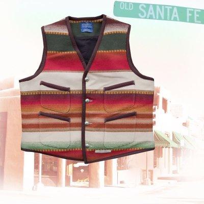 画像1: ペンドルトン サンタフェ ストライプ ベスト(タン)/Pendleton Santa Fe Stripe Vest