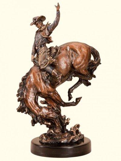 画像1: ウエスタン 置物(ロデオカウボーイ)/Sculpture