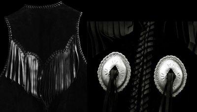 画像3: スカリー ウエスタン レザー フリンジ ベスト(ブラック)/Scully Western Leather Fringe Vest