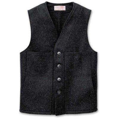 画像1: フィルソン マッキーノ ウールベスト(チャコール)/Filson Mackinaw Wool Vest Charcoal