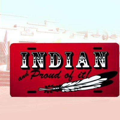 画像1: ライセンスプレート インディアン/License Plate