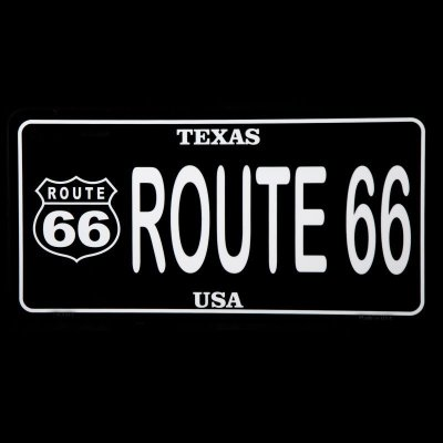 画像1: ルート66 テキサス U.S.A ライセンスプレート/License Plate