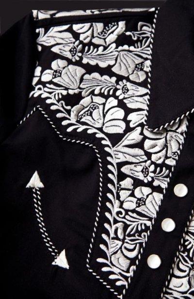 画像3: スカリー 刺繍 ウエスタン シャツ(長袖/ブラック・シルバー)/Scully Long Sleeve Western Shirt(Women's)