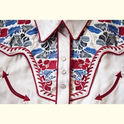 画像3: スカリー 刺繍 ウエスタン シャツ(長袖/ホワイト・フローラルマルチカラー)/Scully Long Sleeve Western Shirt(Women's)