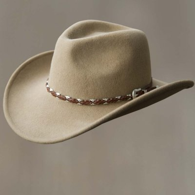 画像1: クラッシャブルウール カウボーイハット(ライトブラウン)/Wool Cowboy Hat(Light Brown)