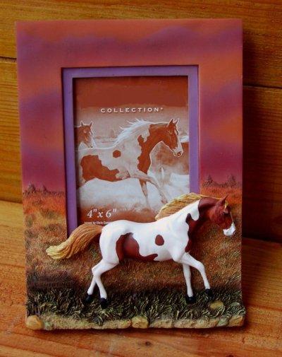 画像1: ホース フォトフレーム(写真立て)/Horse Photo Frame