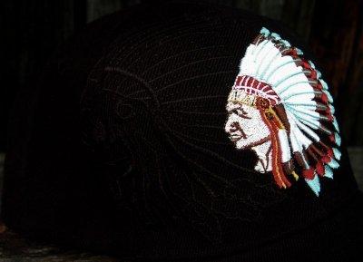 画像2: ネイティブプライド キャップ・インディアンチーフブラック/Native Pride Cap Indian Chief