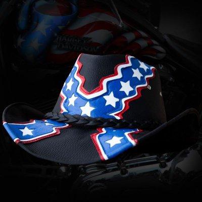 画像2: レザーハット 南軍兵士(ブラック)/Genuine Leather Hat