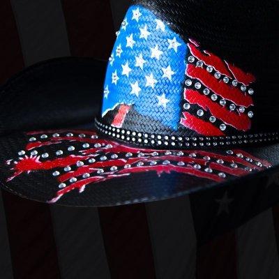 画像2: インデペンデンス デイ ストローハット(ブラック)/Western Straw Hat