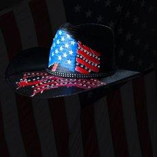 画像2: インデペンデンス デイ ストローハット(ブラック)/Western Straw Hat (2)