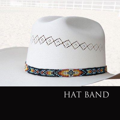 画像1: ハットバンド ビーズ/Hat Band