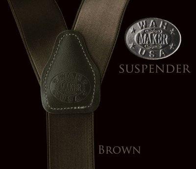 画像1: ワーメーカー サスペンダー(ブラウン)/Wah Maker Suspenders(Brown)