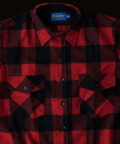 画像2: ペンドルトン ジャパンフィット アウトドアシャツ レッド×ブラック(バッファローチェック)/Pendleton Outdoor Shirt Rob Roy Plaid