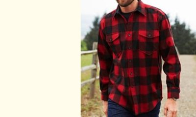 画像3: ペンドルトン ジャパンフィット アウトドアシャツ レッド×ブラック(バッファローチェック)/Pendleton Outdoor Shirt Rob Roy Plaid