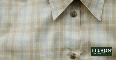 画像2: フィルソン Filson レディース 半袖シャツ(キャメルマルチ)