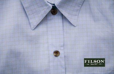 画像2: フィルソン Filson レディース 半袖シャツ(ブルーマルチ)