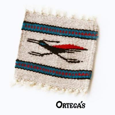 画像1: オルテガ ウール コースター ロードランナー(12cm×12cm)/Ortega's Wool Coasters