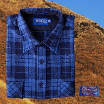画像1: ペンドルトン ジャパンフィット アウトドアシャツ ブループラッド/Pendleton Outdoor Shirt Blue Plaid