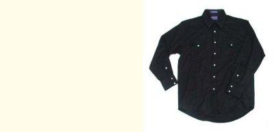 画像2: ペンドルトン ピュアー ヴァ-ジン ウール ウエスタンシャツ(ブラック無地)/Pendleton High Grade Western Shirt(Black)