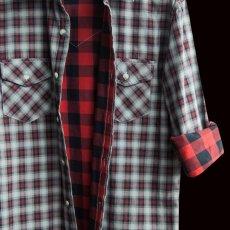 画像2: ペンドルトン ダブルフェイス ビンテージフィットストリートシャツ(長袖)S/Pendleton Long Sleeve Double Face Street Shirt(Black Red Soft Plaid) (2)