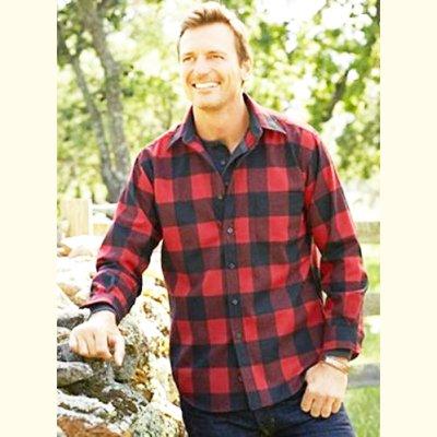 画像2: ペンドルトン ウールシャツ ロッジシャツ ロブロイレッドプラッド/Pendleton Lodge Shirt