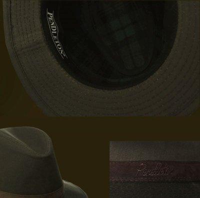 画像3: ペンドルトン ウールラインド オイルスキン ハット(ブラウン・ブラウンウオッチ)XL/Pendleton Wool Lined Oilskin Hat