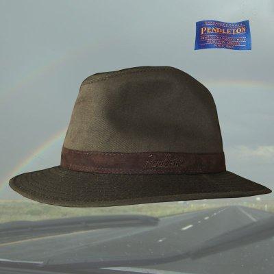 画像2: ペンドルトン ウールラインド オイルスキン ハット(ブラウン・ブラウンウオッチ)XL/Pendleton Wool Lined Oilskin Hat