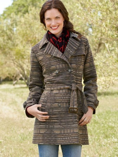 画像1: ペンドルトン ピュアーヴァージンウール トレンチ コートS/Pendleton Coat Sundown(Women's)