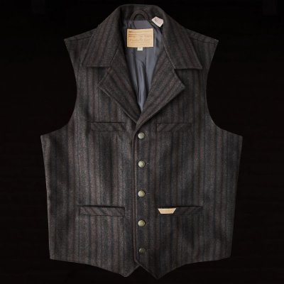 画像1: パンハンドルスリム パウダーリバー ウールベスト(ブラウン)M/Panhandle Slim Wool Vest(Brown)