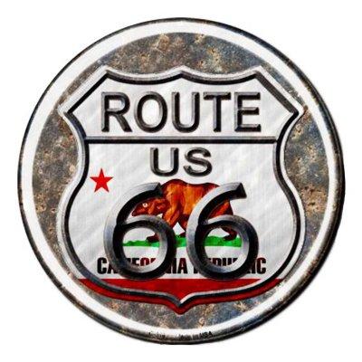 画像1: ルート66 カリフォルニア リパブリック メタルサイン/Metal Sign Route 66 California Republic