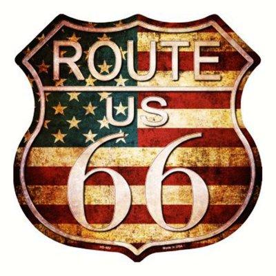 画像1: ルート66 アメリカン ビンテージ メタルサイン/Metal Sign Route 66