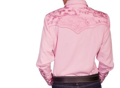 画像2: スカリー 刺繍 ウエスタン シャツ(長袖/ピンク)/Scully Long Sleeve Western Shirt(Women's)