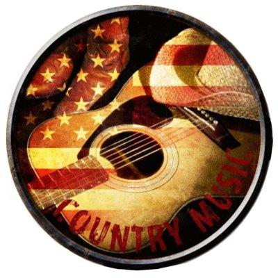 画像1: カントリー ミュージック メタルサイン/Country Music Metal Sign