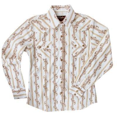 画像1: ウエスタン シャツ フラワーストライプ(長袖)/Long Sleeve Western Shirt(Women's)