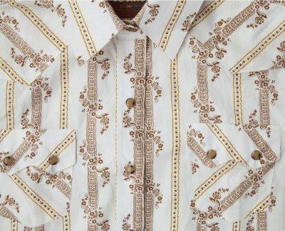 画像2: ウエスタン シャツ フラワーストライプ(長袖)/Long Sleeve Western Shirt(Women's)