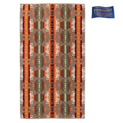画像1: PENDLETON ペンドルトン ジャガードバスタオル(チーフジョセフ カーキ)/Pendleton Chief Joseph  Spa Towel(Khaki)