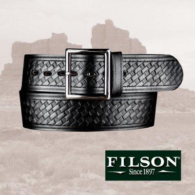画像1: フィルソン ブライドルレザー ベルト ブラック/Filson Bridle Leather Belt(Black)