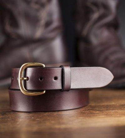 """画像1: ファニー 38mm ハーネス ベルト(ブラウン)/Funny 1-1/2""""Harness Belt(Brown)"""