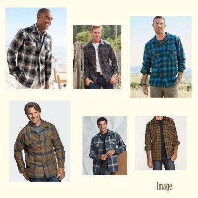 画像2: ペンドルトン ピュアー ヴァ-ジン ウール フィッテッド ボードシャツ(ブラウン・ラスト・ブロンズプラッド)XS/Pendleton Fitted Board Shirt