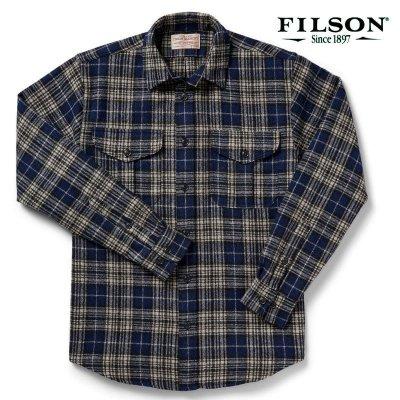 画像1: フィルソン ノースウエスト ウールシャツ(ダークブループラッド)/Filson Northwest Wool Shirt