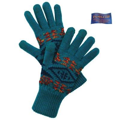 画像1: ペンドルトン スマートフォン対応 メリノウール グローブ(手袋)ダイアモンドリバー/Pendleton Jacquard Texting Glove