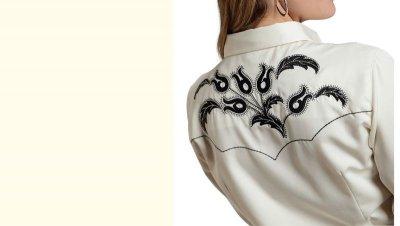 画像2: ローパー 刺繍 ウエスタンシャツ ホワイト(長袖/レディース)/Roper Long Sleeve Western Shirt(Women's)