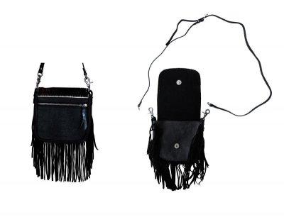 画像2: フリンジ ベルト&ショルダーバッグ(レザー・ヘアーオン)/Leather&Hair-On Crossbody